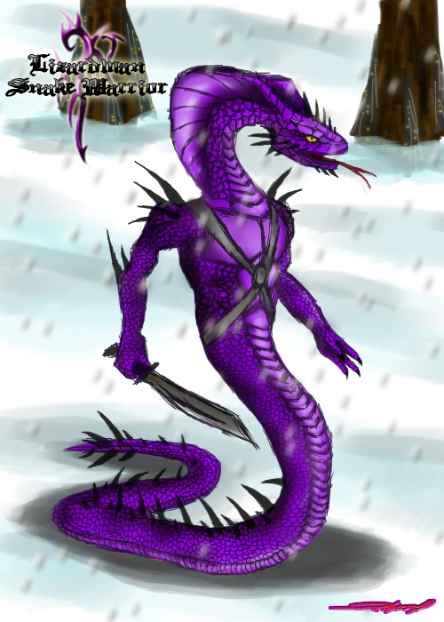 Snake_Warrior_by_rosedragoness