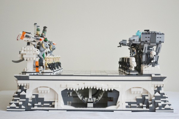 Star Wars Meets Lego Over A Game Of Chess