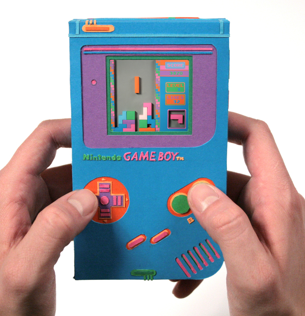 Papercraft GameBoy is foldy goodness