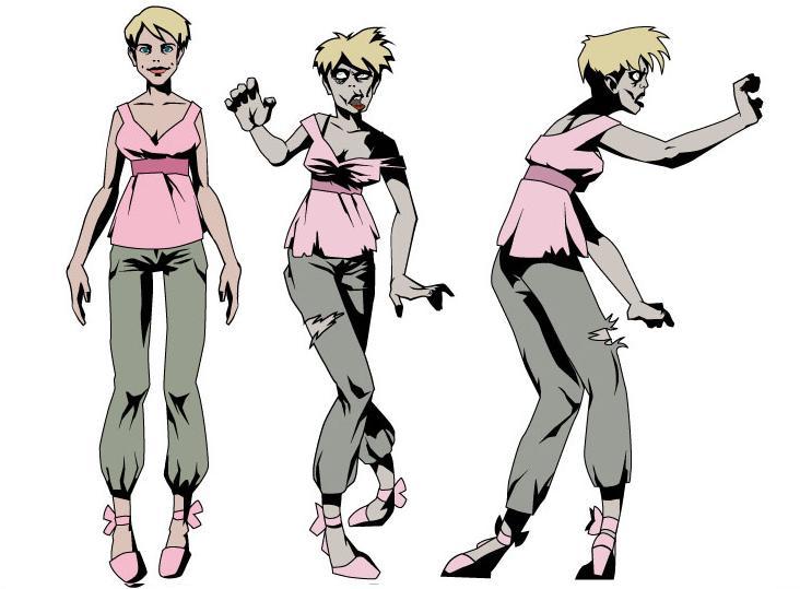 Female one arm stumble legs