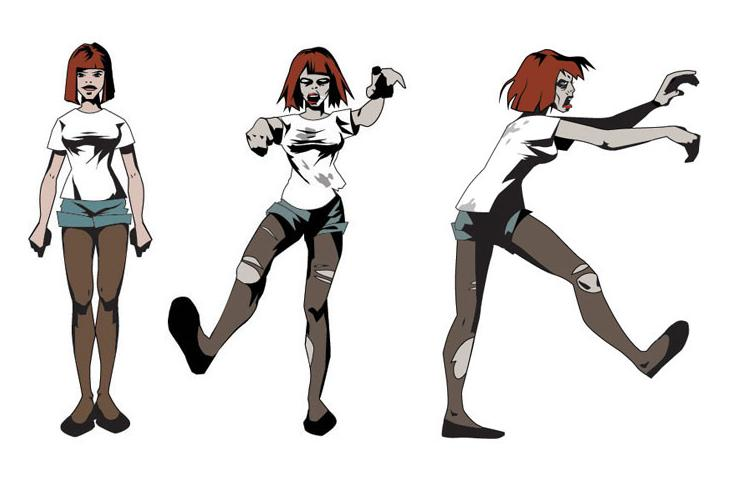 Female high arms marching legs