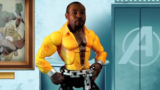 Isaiah Mustafa as Luke Cage in Hero Spice spoof