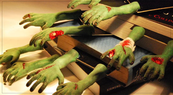 For the evil GM: Zombie hand bookmarks