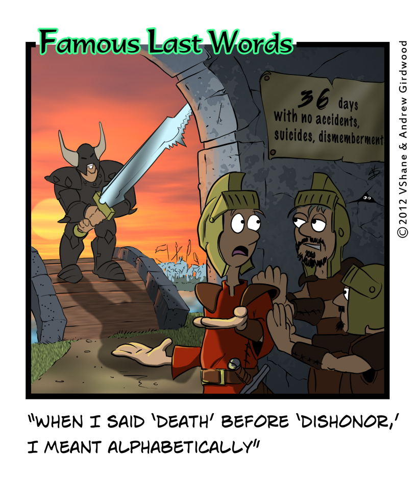 Famous Last Words Friday: Death before Dishonor