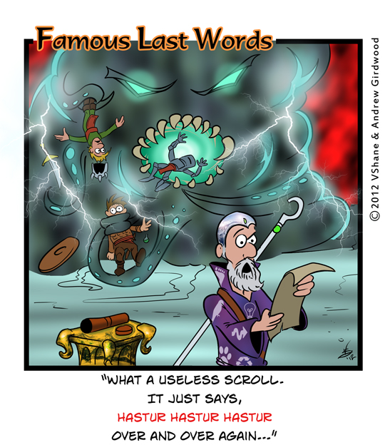 Famous Last Words Friday: Hastur