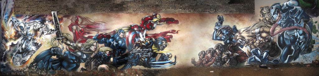 Ultimate avengers mural for Avengers wall mural amazon