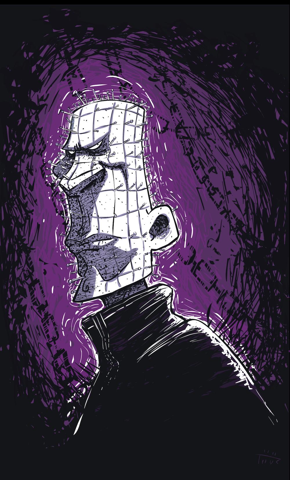 Cartoon Pinhead