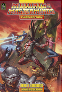 In the sales: Mutants and Masterminds Hero's Handbook.