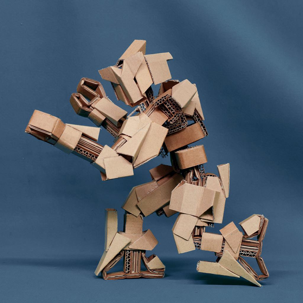 Как сделать робота из бумаги: схема скачать 41