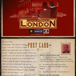 Call of Cthulhu designer lines up for C7's Cthulhu Britannica: London