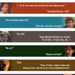 Doctor Who: The first and last lines of each Doctor