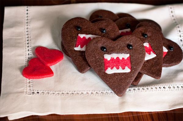 Domo-kun heart cookies 2