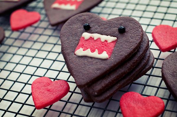 Domo-kun heart cookies 3