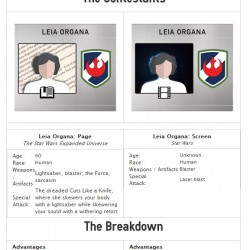 60 year old book Leia battles screen Princess Leia