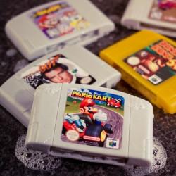 Vegan soaps that look like old Nintendo 64 cartridges