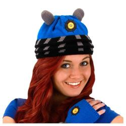 Go Dalek with this blue Doctor Who beanie