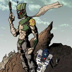 Boba does Borderlands; R2 is Claptrap