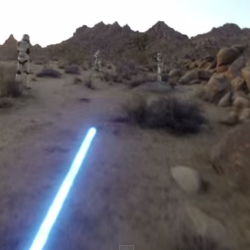 Experience life as a Jedi through a GoPro