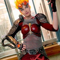 Chandra Nalaar cosplay complete with fire hair