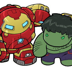 Too cute to fight as Lil Hulkbuster takes on Hulk