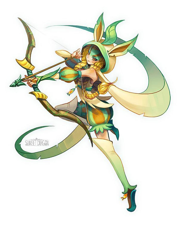 Pokemon Leafeon Human Girl Images | Pokemon Images