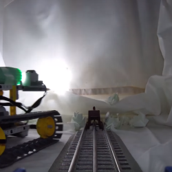 Model train in dramatic escape from mine