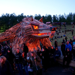 The amazing wooden art of Thomas Dambo would transform your LARP