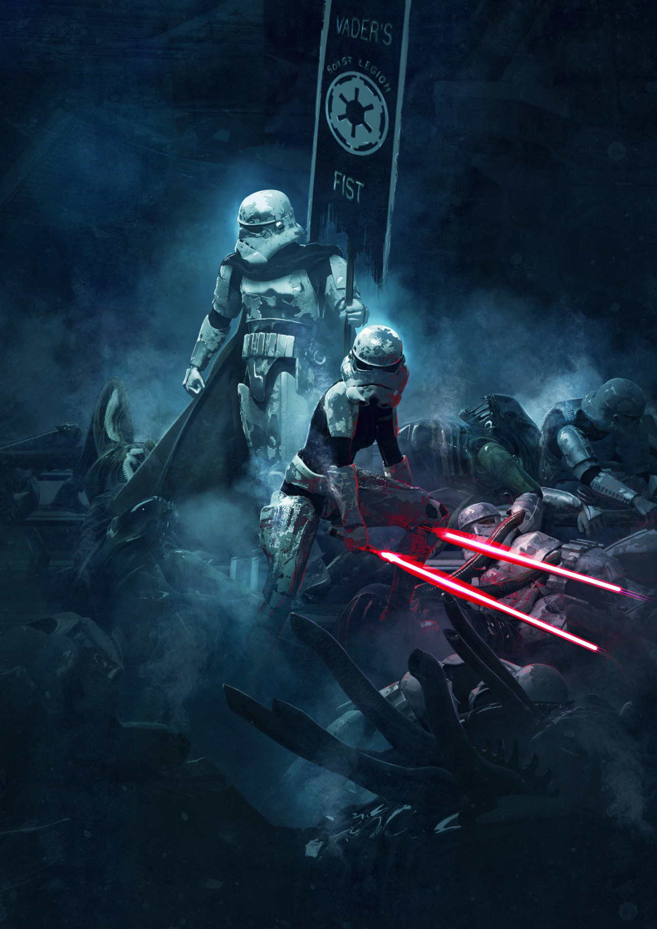 501 Stormtroopers vs Aliens by Guillem H Pongiluppi 5