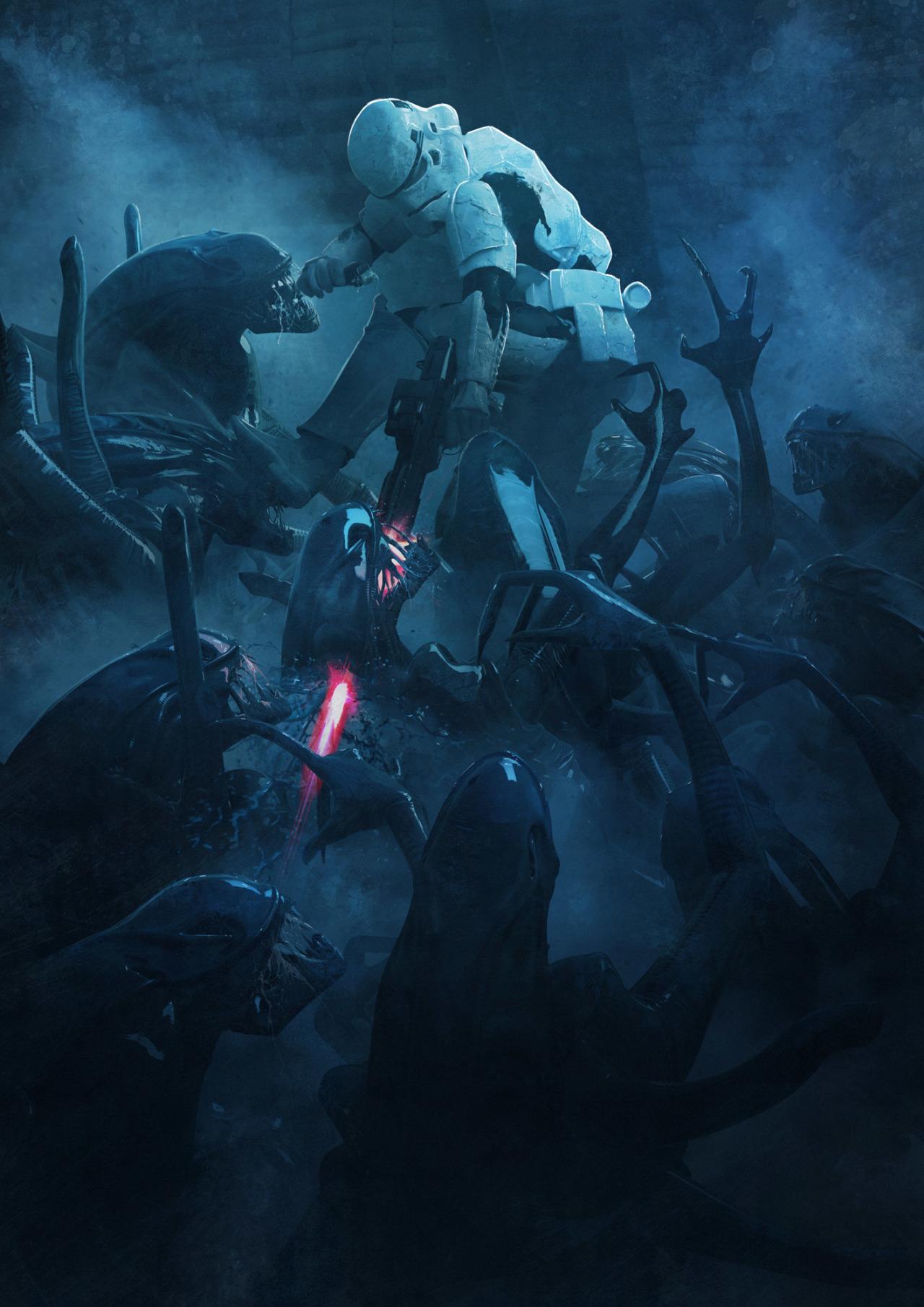 501 Stormtroopers vs Aliens by Guillem H Pongiluppi