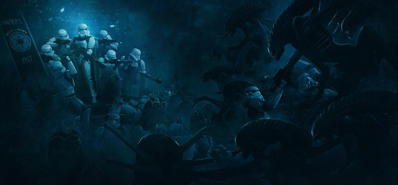 501 Stormtroopers vs Aliens by Guillem H Pongiluppi 3