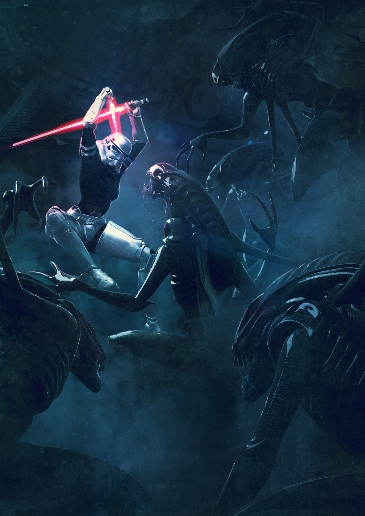 501 Stormtroopers vs Aliens by Guillem H Pongiluppi 4