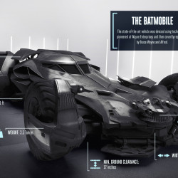 A closer look at the Batman v Superman batmobile