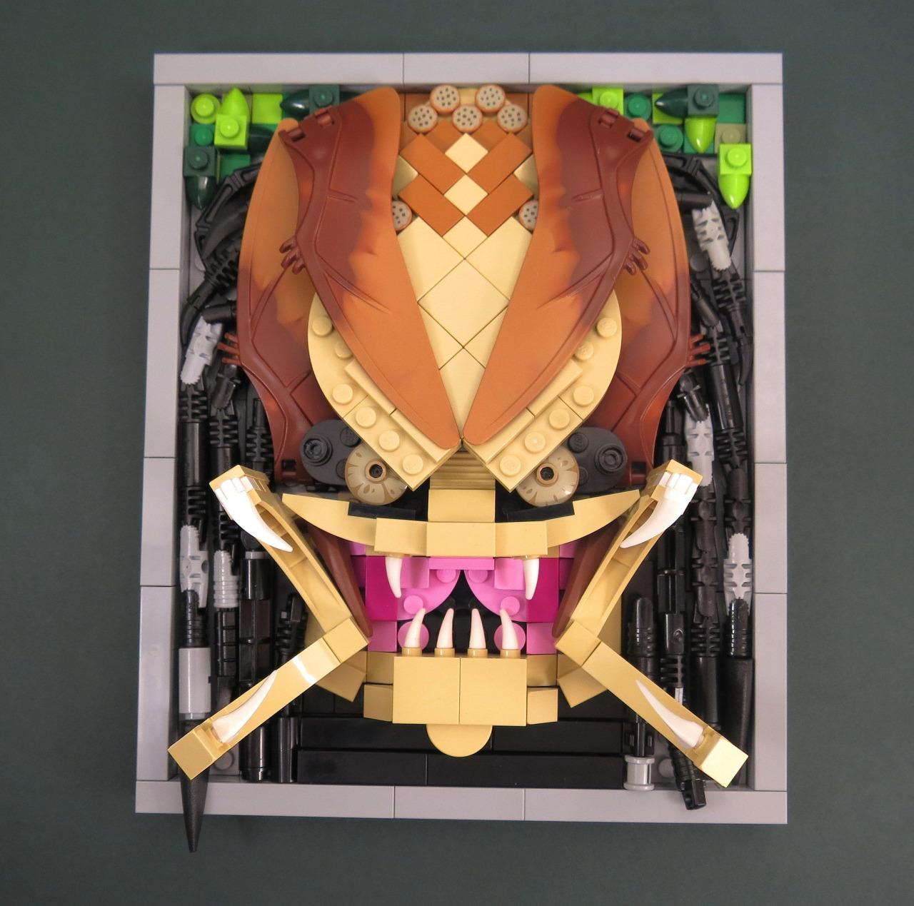 LEGO predator face