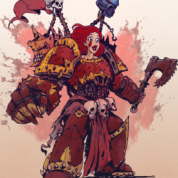 What if Disney Princesses entered the Warhammer 40K universe?