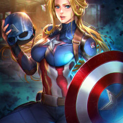 Marvel's superheroes transformed into sexy anime girls