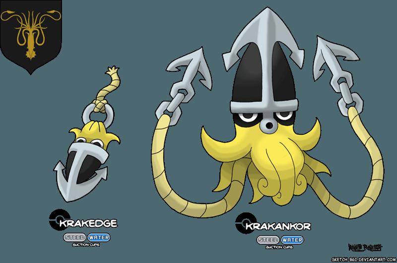 greyjoy - Game of Thrones as Pokemon