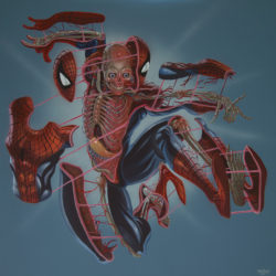 Superhero Week: Weird superhero dissection art