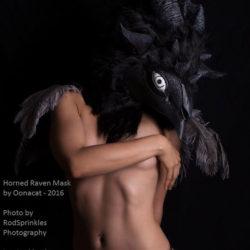 12 Masks of Halloween: #1 Horned Raven Mask