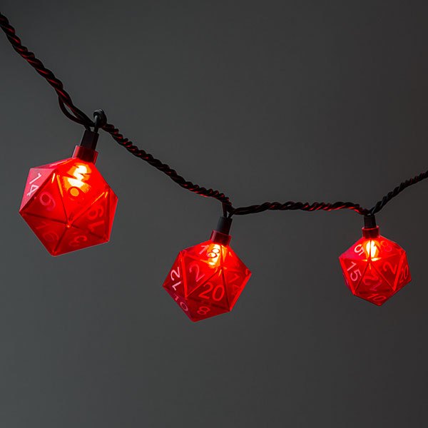 Deck the Den with glowing D20s!