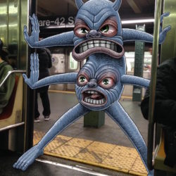 There are monsters in the subway