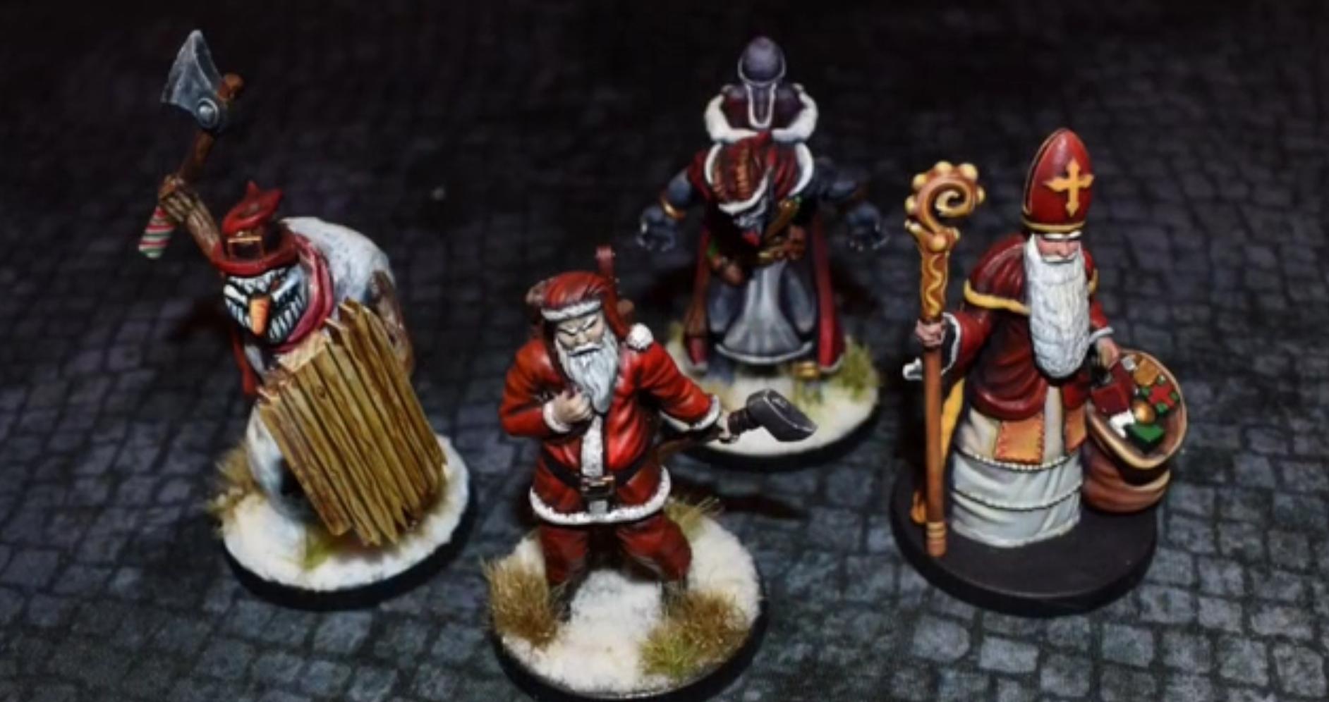 Unpainted Christmas Village